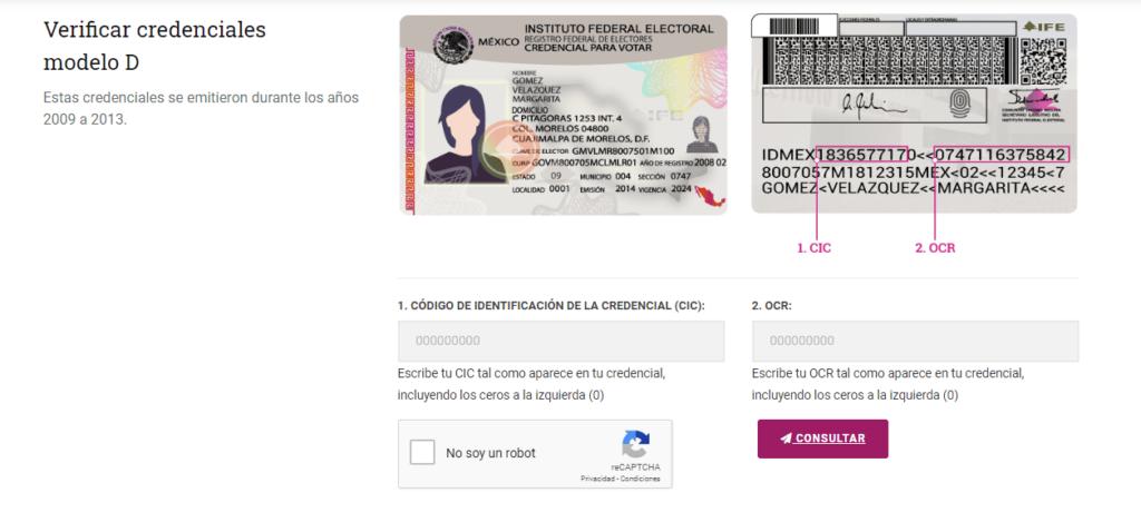 Imagen: Vigencia INE - Consulta tu Credencial para Votar